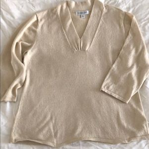 Coldwater Creek 3/4 Sleeve Sweater, Size XL